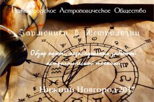 """Воскресный лекторий: """"Гармоники в Астрологии"""""""